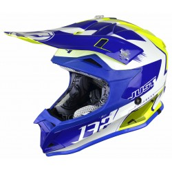 JUST1 J32 PRO KICK WHITE-BLUE-YELLOW